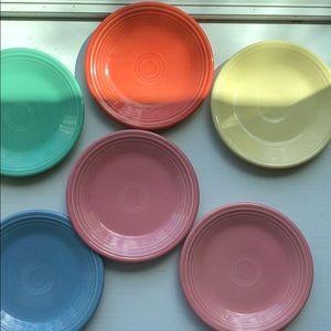 Fiesta ware desert plates